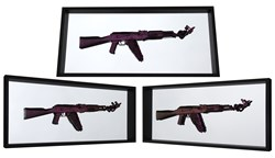 Make Love Not War (purple) by Dan Pearce - Original Wall Mountable Resin Sculpture sized 43x19 inches. Available from Whitewall Galleries